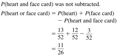 Big Ideas Math Answer Key Algebra 2 Chapter 10 Probability 10.4 a 11