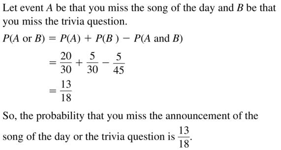 Big Ideas Math Answer Key Algebra 2 Chapter 10 Probability 10.4 a 19