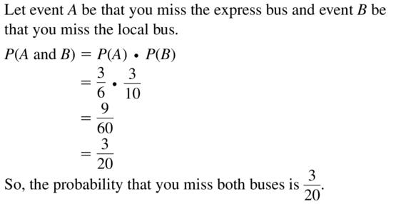 Big Ideas Math Answer Key Algebra 2 Chapter 10 Probability 10.4 a 21