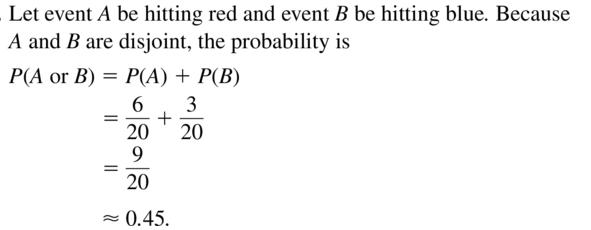 Big Ideas Math Answer Key Algebra 2 Chapter 10 Probability 10.4 a 7