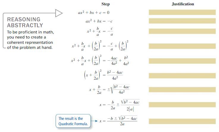 Big Ideas Math Answer Key Algebra 2 Chapter 3 Quadratic Equations and Complex Numbers 3.4 1
