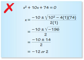 Big Ideas Math Answer Key Algebra 2 Chapter 3 Quadratic Equations and Complex Numbers 3.4 3