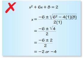 Big Ideas Math Answer Key Algebra 2 Chapter 3 Quadratic Equations and Complex Numbers 3.4 4