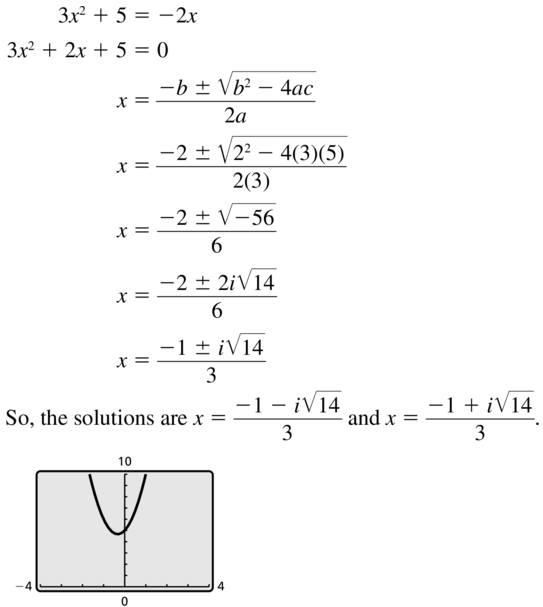 Big Ideas Math Answer Key Algebra 2 Chapter 3 Quadratic Equations and Complex Numbers 3.4 a 11