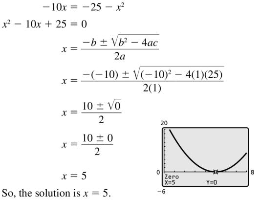 Big Ideas Math Answer Key Algebra 2 Chapter 3 Quadratic Equations and Complex Numbers 3.4 a 13