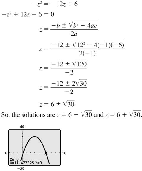 Big Ideas Math Answer Key Algebra 2 Chapter 3 Quadratic Equations and Complex Numbers 3.4 a 17