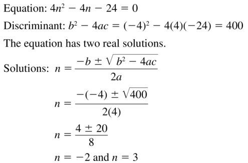 Big Ideas Math Answer Key Algebra 2 Chapter 3 Quadratic Equations and Complex Numbers 3.4 a 21