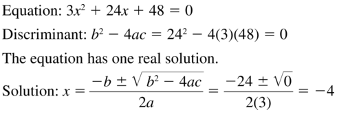 Big Ideas Math Answer Key Algebra 2 Chapter 3 Quadratic Equations and Complex Numbers 3.4 a 25