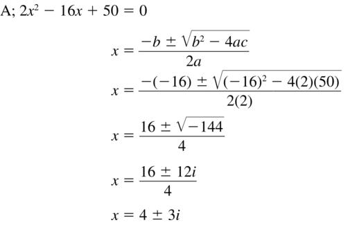 Big Ideas Math Answer Key Algebra 2 Chapter 3 Quadratic Equations and Complex Numbers 3.4 a 27