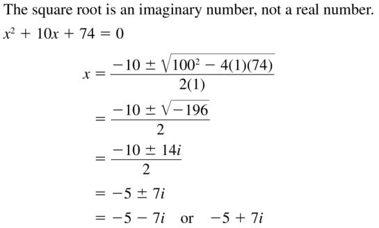 Big Ideas Math Answer Key Algebra 2 Chapter 3 Quadratic Equations and Complex Numbers 3.4 a 33