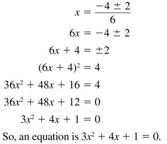 Big Ideas Math Answer Key Algebra 2 Chapter 3 Quadratic Equations and Complex Numbers 3.4 a 45