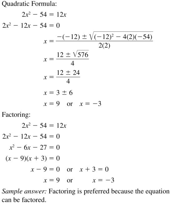 Big Ideas Math Answer Key Algebra 2 Chapter 3 Quadratic Equations and Complex Numbers 3.4 a 49