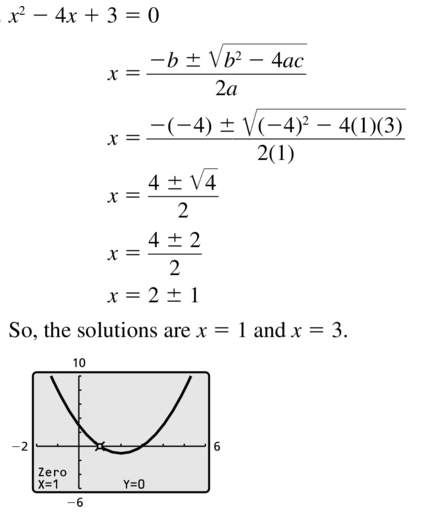 Big Ideas Math Answer Key Algebra 2 Chapter 3 Quadratic Equations and Complex Numbers 3.4 a 5