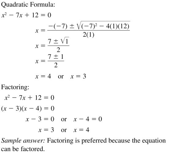 Big Ideas Math Answer Key Algebra 2 Chapter 3 Quadratic Equations and Complex Numbers 3.4 a 51
