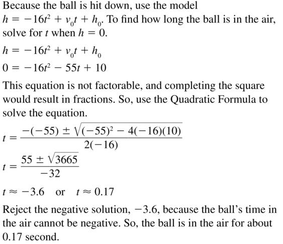 Big Ideas Math Answer Key Algebra 2 Chapter 3 Quadratic Equations and Complex Numbers 3.4 a 63