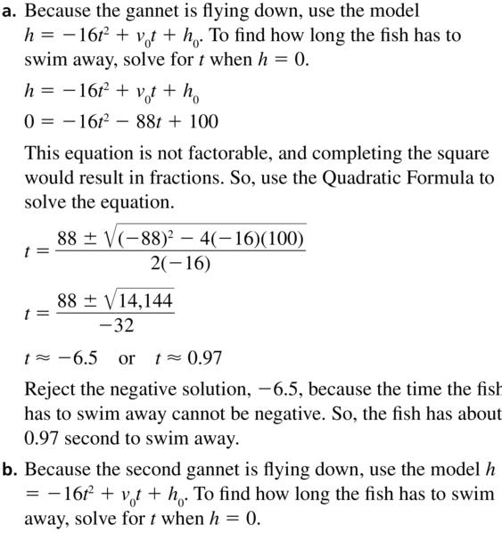 Big Ideas Math Answer Key Algebra 2 Chapter 3 Quadratic Equations and Complex Numbers 3.4 a 67.1