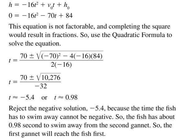 Big Ideas Math Answer Key Algebra 2 Chapter 3 Quadratic Equations and Complex Numbers 3.4 a 67.2