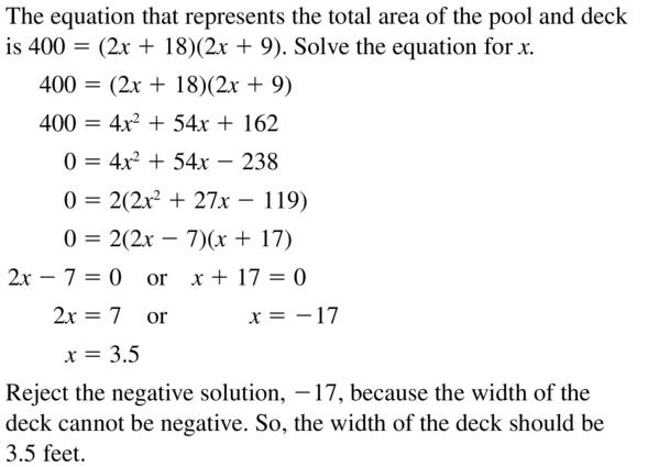 Big Ideas Math Answer Key Algebra 2 Chapter 3 Quadratic Equations and Complex Numbers 3.4 a 69