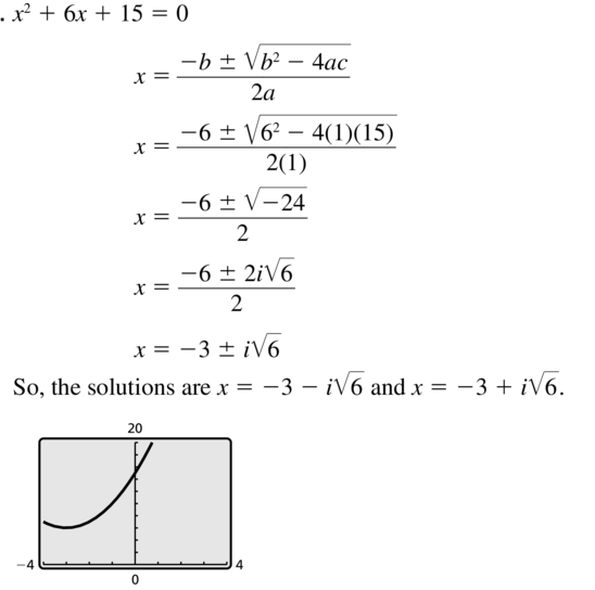 Big Ideas Math Answer Key Algebra 2 Chapter 3 Quadratic Equations and Complex Numbers 3.4 a 7