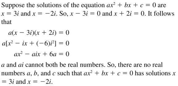 Big Ideas Math Answer Key Algebra 2 Chapter 3 Quadratic Equations and Complex Numbers 3.4 a 75
