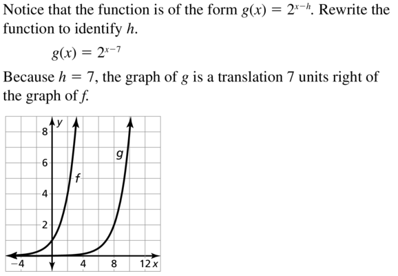 Big Ideas Math Answer Key Algebra 2 Chapter 6 Exponential and Logarithmic Functions 6.4 a 11