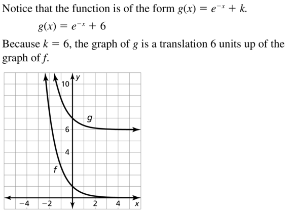 Big Ideas Math Answer Key Algebra 2 Chapter 6 Exponential and Logarithmic Functions 6.4 a 13