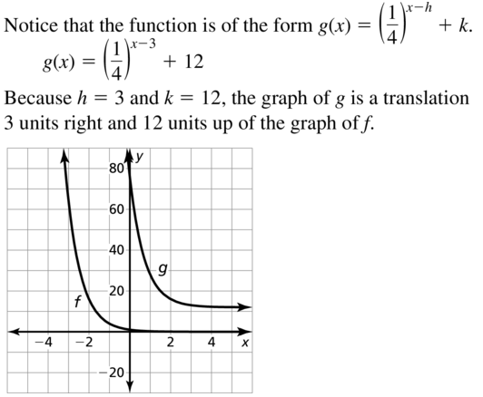 Big Ideas Math Answer Key Algebra 2 Chapter 6 Exponential and Logarithmic Functions 6.4 a 15