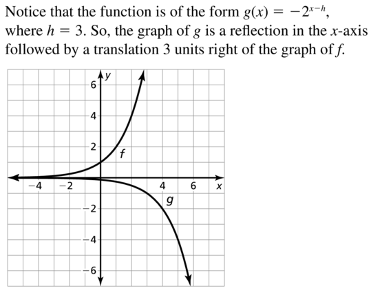 Big Ideas Math Answer Key Algebra 2 Chapter 6 Exponential and Logarithmic Functions 6.4 a 19
