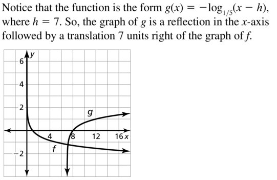 Big Ideas Math Answer Key Algebra 2 Chapter 6 Exponential and Logarithmic Functions 6.4 a 29