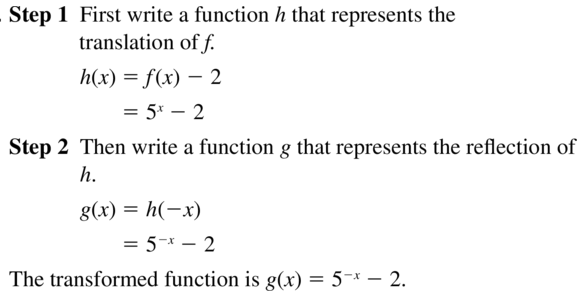 Big Ideas Math Answer Key Algebra 2 Chapter 6 Exponential and Logarithmic Functions 6.4 a 35