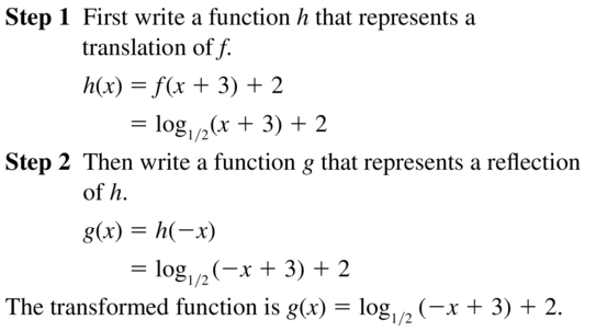 Big Ideas Math Answer Key Algebra 2 Chapter 6 Exponential and Logarithmic Functions 6.4 a 41