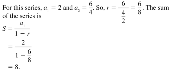Big Ideas Math Answer Key Algebra 2 Chapter 8 Sequences and Series 8.4 a 11
