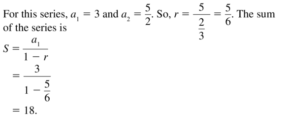 Big Ideas Math Answer Key Algebra 2 Chapter 8 Sequences and Series 8.4 a 13