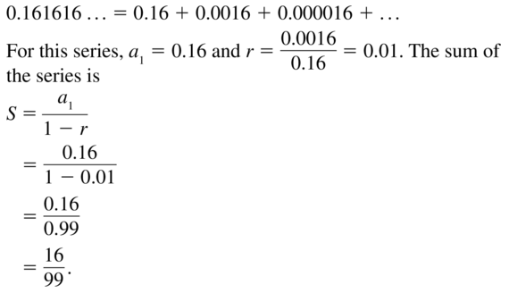 Big Ideas Math Answer Key Algebra 2 Chapter 8 Sequences and Series 8.4 a 21