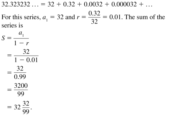 Big Ideas Math Answer Key Algebra 2 Chapter 8 Sequences and Series 8.4 a 23