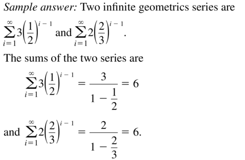 Big Ideas Math Answer Key Algebra 2 Chapter 8 Sequences and Series 8.4 a 25