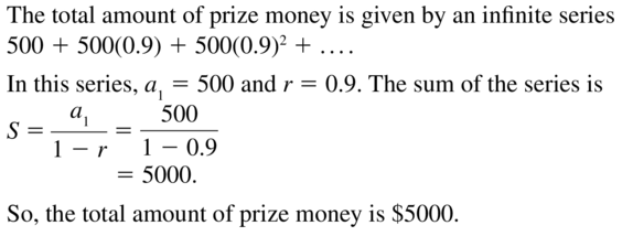 Big Ideas Math Answer Key Algebra 2 Chapter 8 Sequences and Series 8.4 a 27