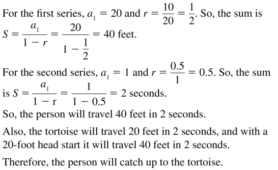 Big Ideas Math Answer Key Algebra 2 Chapter 8 Sequences and Series 8.4 a 29