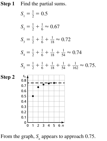 Big Ideas Math Answer Key Algebra 2 Chapter 8 Sequences and Series 8.4 a 3