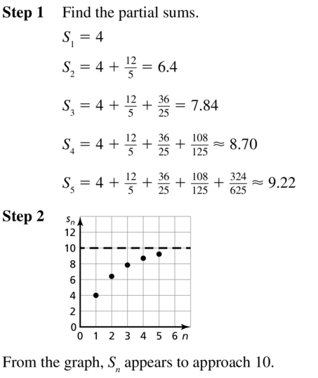 Big Ideas Math Answer Key Algebra 2 Chapter 8 Sequences and Series 8.4 a 5