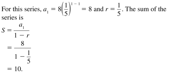 Big Ideas Math Answer Key Algebra 2 Chapter 8 Sequences and Series 8.4 a 7