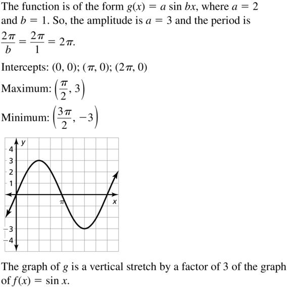 Big Ideas Math Answer Key Algebra 2 Chapter 9 Trigonometric Ratios and Functions 9.4 a 13