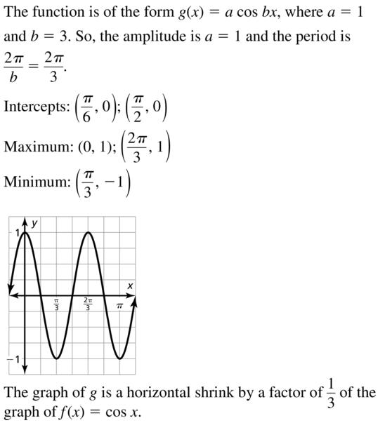 Big Ideas Math Answer Key Algebra 2 Chapter 9 Trigonometric Ratios and Functions 9.4 a 15