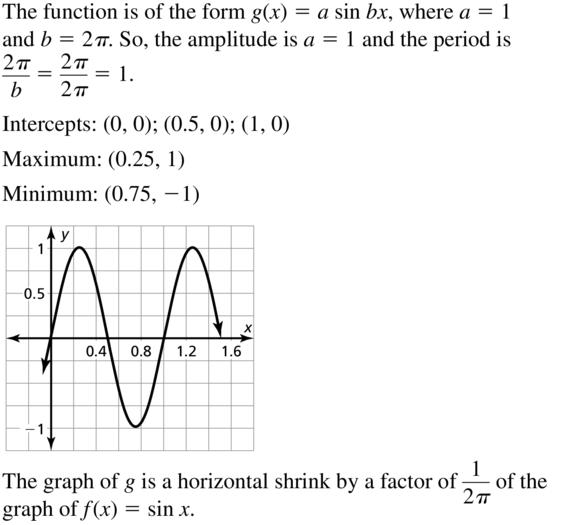 Big Ideas Math Answer Key Algebra 2 Chapter 9 Trigonometric Ratios and Functions 9.4 a 17