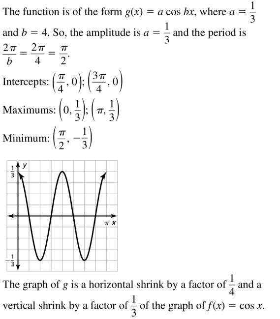 Big Ideas Math Answer Key Algebra 2 Chapter 9 Trigonometric Ratios and Functions 9.4 a 19