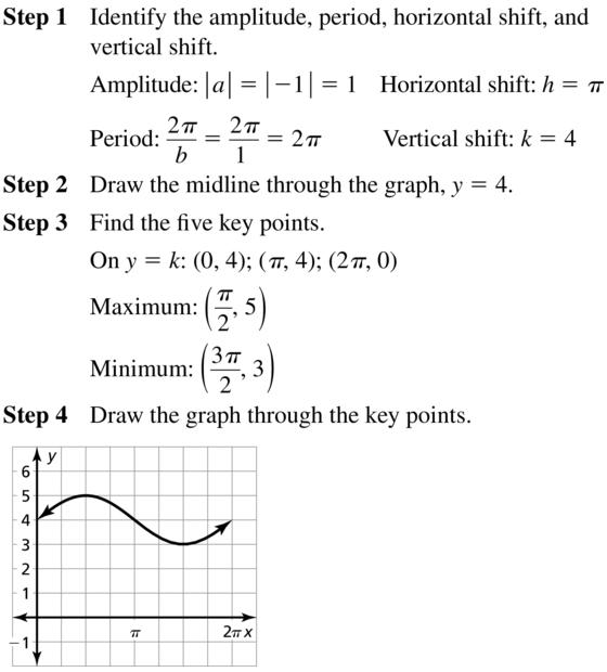 Big Ideas Math Answer Key Algebra 2 Chapter 9 Trigonometric Ratios and Functions 9.4 a 45