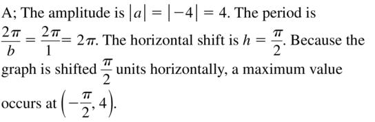 Big Ideas Math Answer Key Algebra 2 Chapter 9 Trigonometric Ratios and Functions 9.4 a 49