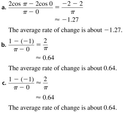 Big Ideas Math Answer Key Algebra 2 Chapter 9 Trigonometric Ratios and Functions 9.4 a 59