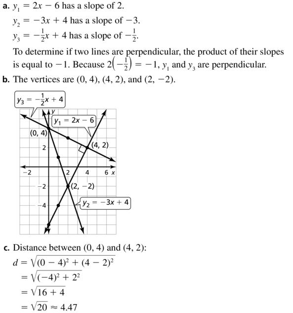 Big Ideas Math Answer Key Geometry Chapter 1 Basics of Geometry 1.4 a 33.1