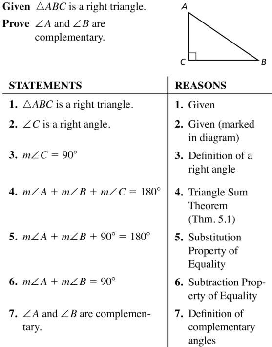 Big Ideas Math Answer Key Geometry Chapter 5 Congruent Triangles 5.1 a 41
